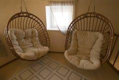 Hangmat op een terras. stock foto's
