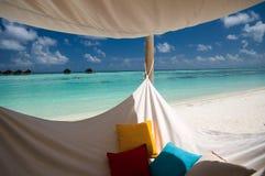 Hangmat op het strand Royalty-vrije Stock Afbeelding