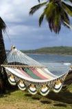 Hangmat over het Caraïbische overzees Nicaragua Royalty-vrije Stock Fotografie