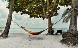 Hangmat in tropisch klimaat stock foto