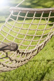 Hangmat in tuin Stock Fotografie
