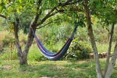 Hangmat voor het ontspannen. Stock Foto