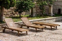 Hangmatten in de zon Stock Foto