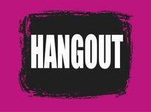 Hangout black and pink stamp. Hangout black and pink grunge stamp Royalty Free Stock Image
