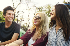 Hangout Park Friends Enjoyment Lifestyle Concept Stock Images