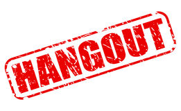 Hangout red stamp text Stock Image