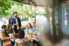 Hangout of young people Royalty Free Stock Image