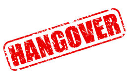 Hangover red stamp text Royalty Free Stock Photography