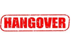 Hangover stamp on white background. Hangover stamp isolated on white background Stock Photo