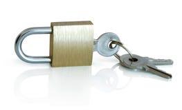 Hangslot & sleutels Royalty-vrije Stock Foto