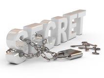 Hangslot en sleutels Royalty-vrije Stock Foto's
