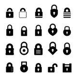 Hangslotpictogram stock illustratie