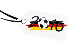 Hangtag with lettering 2016 with german national colors Stock Images