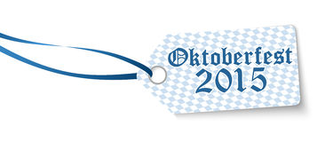 Hangtag with text Oktoberfest 2015 Royalty Free Stock Photography