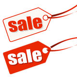 hangtag white-red SALE Stock Image
