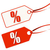 hangtag white-red SALE Stock Photography