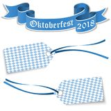 hangtags και έμβλημα για Oktoberfest 2018 Στοκ εικόνα με δικαίωμα ελεύθερης χρήσης
