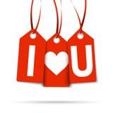 Hangtags  I LOVE U  Stock Images