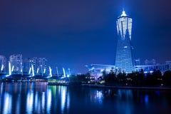 Hangzhou alla notte immagine stock libera da diritti