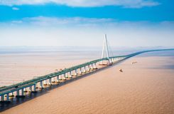 Free Hangzhou Bay Cross Sea Bridge Stock Photos - 139044423