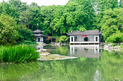 Hangzhou beautiful scenery in the park Royalty Free Stock Photography