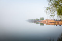 Hangzhou broken bridge in west lake Royalty Free Stock Photography
