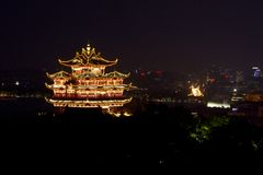 Hangzhou Chenghuang pavilion scenery Royalty Free Stock Image