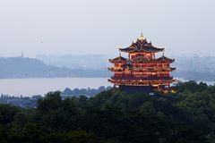 Hangzhou Chenghuang pavilion scenery Royalty Free Stock Images