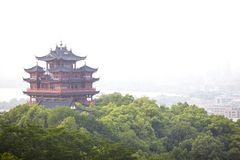 Hangzhou Chenghuang pavilion scenery Royalty Free Stock Photography