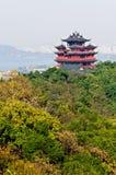 Hangzhou Chenghuang paviljonglandskap Royaltyfria Bilder