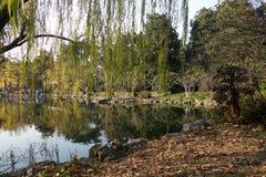 Chinese park in Hangzhou near Xihu Lake China Royalty Free Stock Image