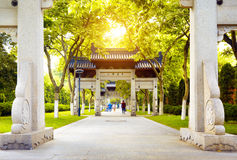 Hangzhou, China. Traditional memorial arch in west lakefront,hangzhou, China royalty free stock photo