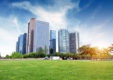 Hangzhou, China. Hangzhou, Zhejiang, China, leisure and high-rise buildings of the public royalty free stock photo