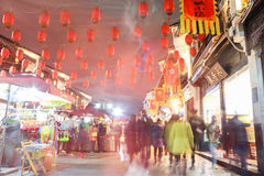 HANGZHOU CHINY, GRUDZIEŃ, - 2016: Popularny turystyczny miejsce przeznaczenia w Hangzhou zdjęcie stock