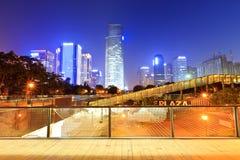 Hangzhou cityscape at dusk Stock Images