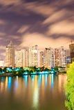 Hangzhou cityscape at night Royalty Free Stock Photo