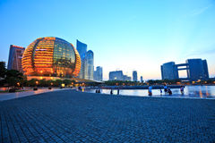 Hangzhou conference center and Civic center building Stock Photos