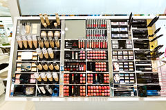 Hangzhou a cosmetics store display products Stock Photo