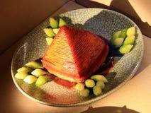 Hangzhou cuisines - gold braised pork. In hangzhou,china stock photos