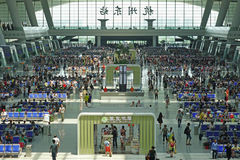 Hangzhou East Railway Station interior Royalty Free Stock Photography