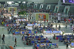 Hangzhou East Railway Station interior Royalty Free Stock Photo