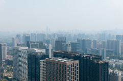 Hangzhou en tiempo nebuloso Foto de archivo libre de regalías