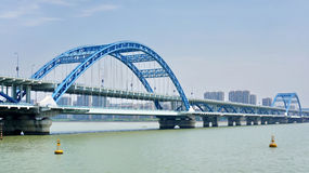 For Hangzhou Fuxing Bridge Royalty Free Stock Images