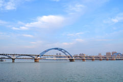 Hangzhou Fuxing Bridge Royalty Free Stock Photography