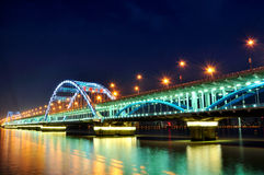 Hangzhou Fuxing Bridge Night Royalty Free Stock Photo