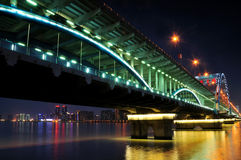 Hangzhou Fuxing Bridge Night Royalty Free Stock Image