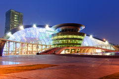 Hangzhou grand theatre at dusk Royalty Free Stock Photography