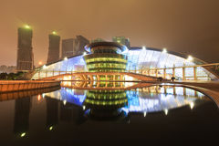 Hangzhou grand theatre the reflection in the water at night Stock Photography