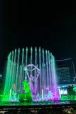 Hangzhou ha illuminato il quadrato di costruzione di Wishan Fotografie Stock Libere da Diritti