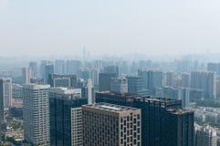 Hangzhou in hazy weather Royalty Free Stock Photo